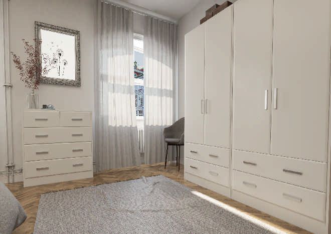 Brighton TrueMatt Taupe Grey Bedroom Doors