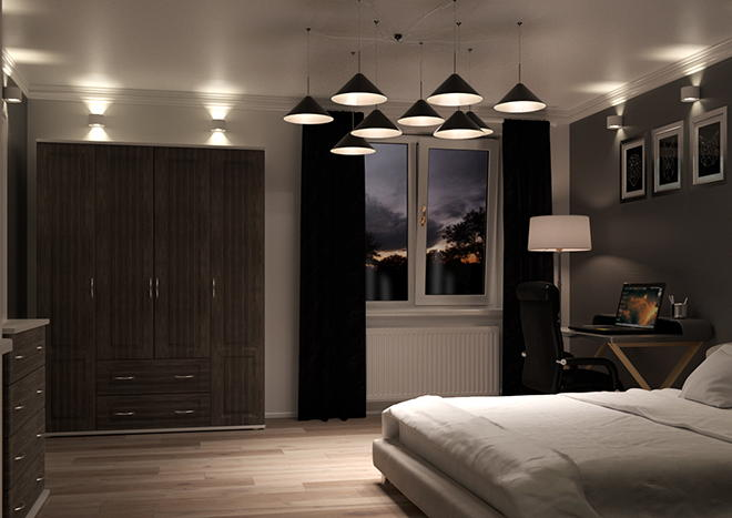 Buxted Avola Grey Bedroom Doors