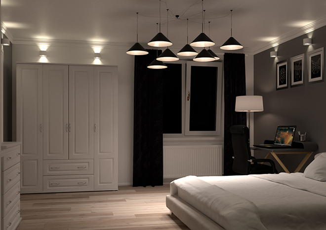 Buxted Silk White Bedroom Doors
