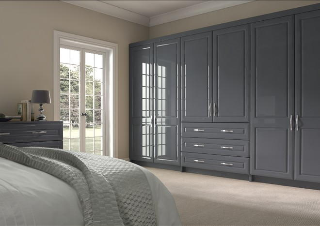 Chichester High Gloss Anthracite Bedroom Doors