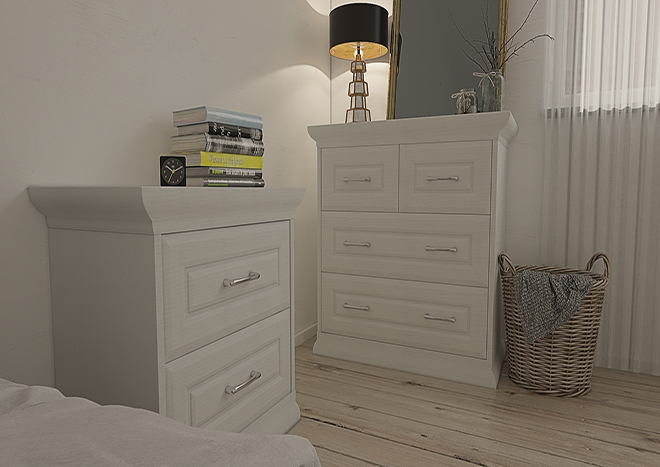 Chichester Legno White Bedroom Doors