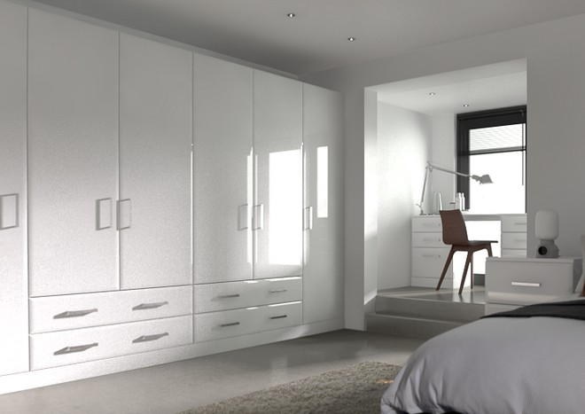 Durrington High Gloss White Bedroom Doors