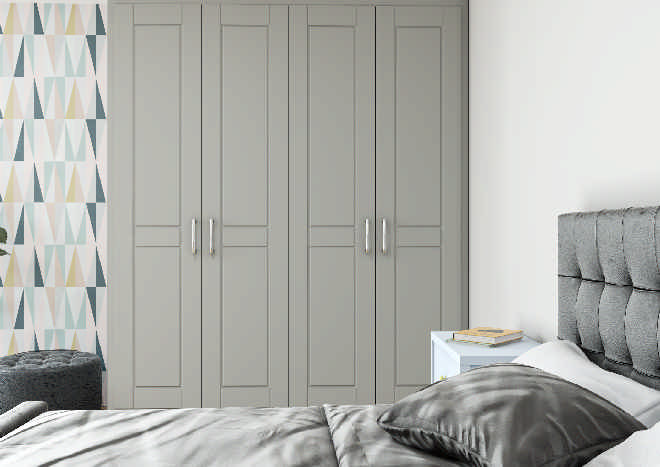 Fairlight TrueMatt Dust Grey Bedroom Doors