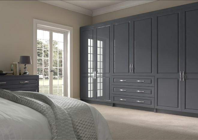 Fontwell High Gloss Anthracite Bedroom Doors