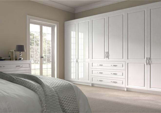 Fontwell High Gloss White Bedroom Doors