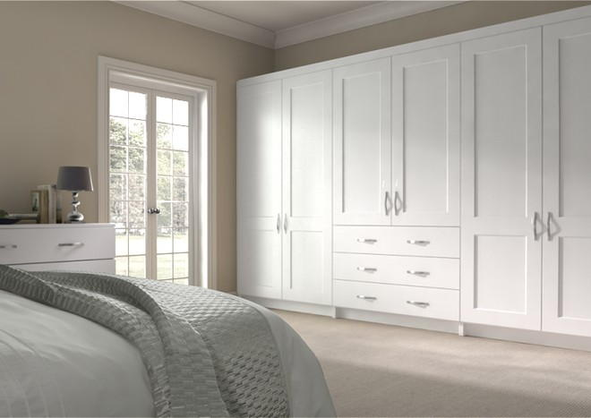 Kingston Super White Ash Bedroom Doors
