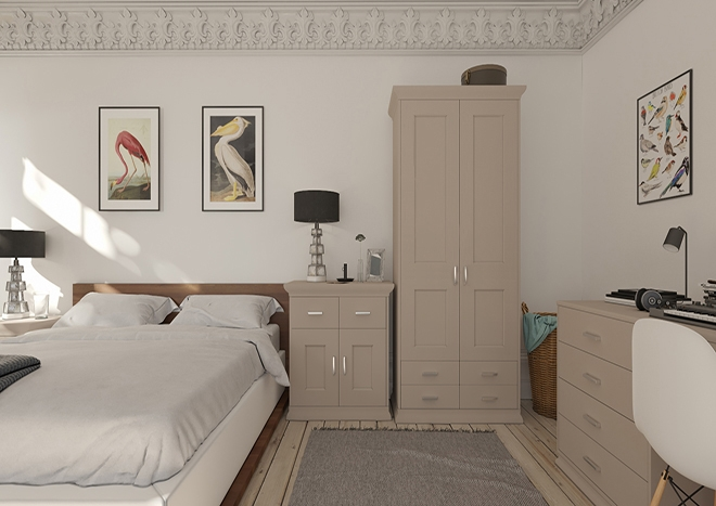 Kingston TrueMatt Stone Grey Bedroom Doors