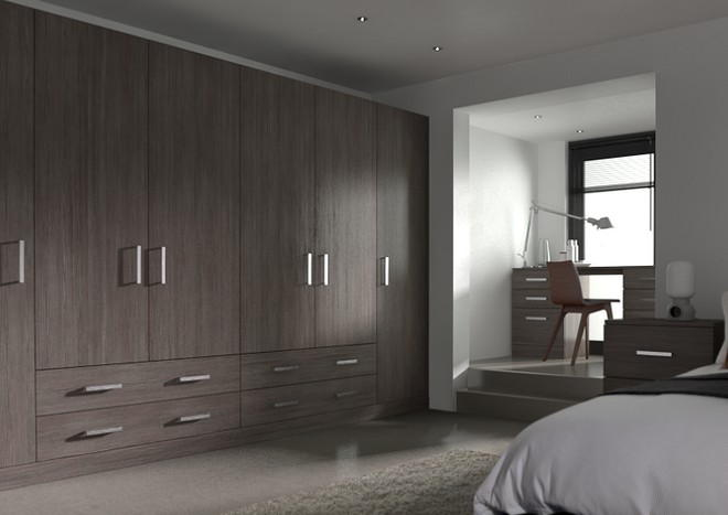 Lewes Avola Grey Bedroom Doors