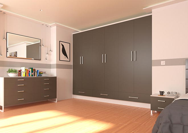 Lewes Graphite Bedroom Doors