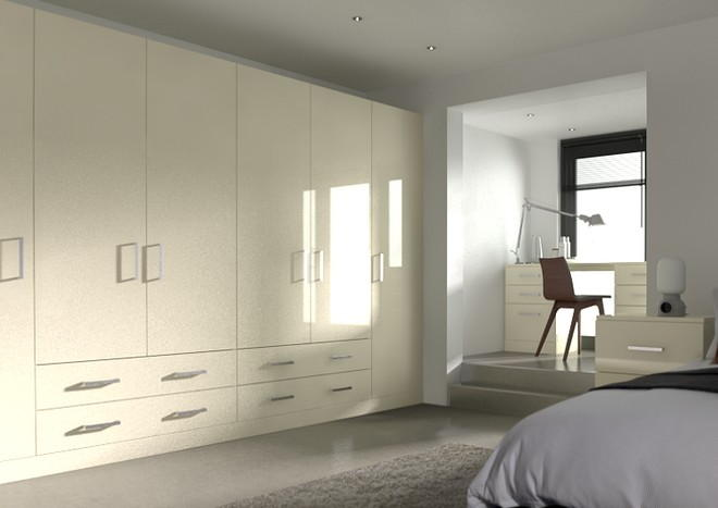 Lewes High Gloss Cream Bedroom Doors
