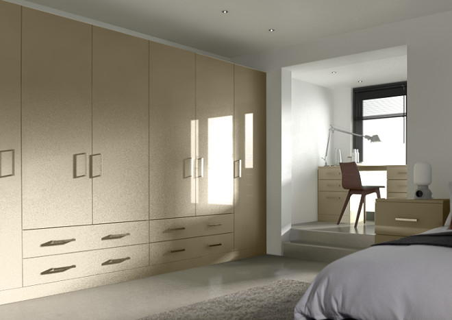 Lewes High Gloss Dakar Bedroom Doors