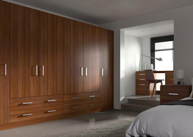Lewes Medium Walnut Bedroom Doors