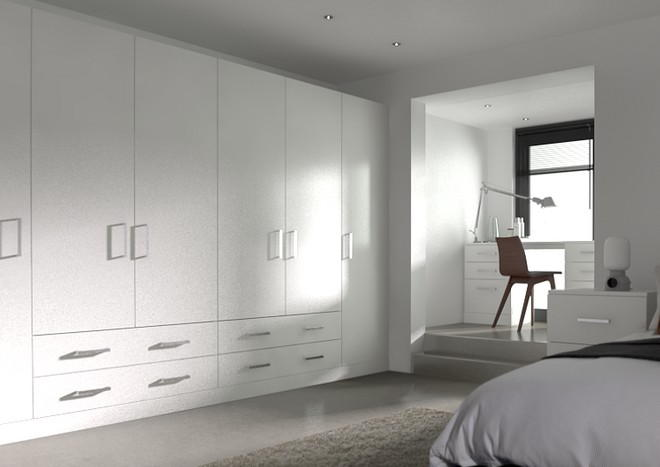 Lewes Silk White Bedroom Doors