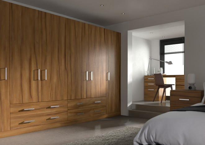 Lewes Tiepolo Light Walnut Bedroom Doors