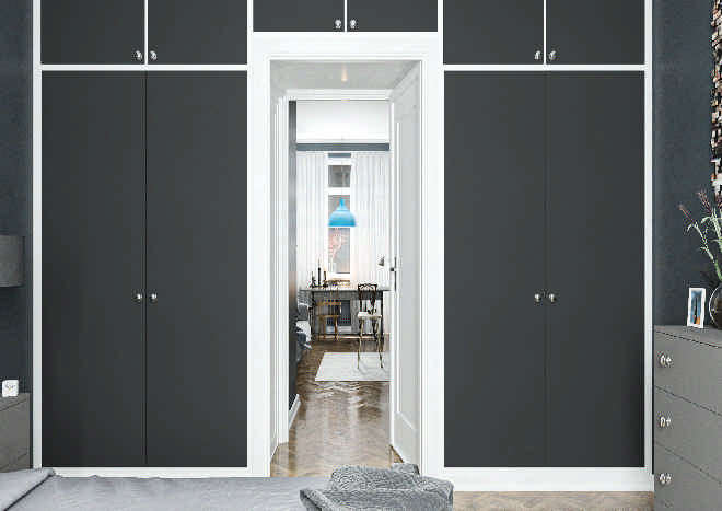 Lewes TrueMatt Graphite Bedroom Doors