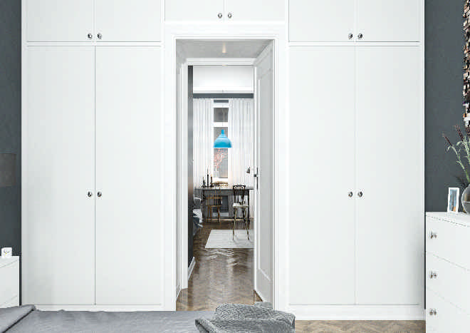 Lewes TrueMatt White Grey Bedroom Doors