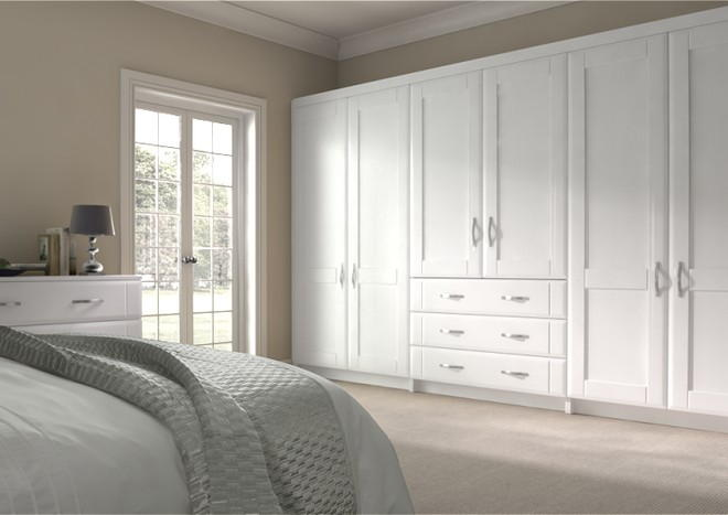 Mayfield Super White Ash Bedroom Doors