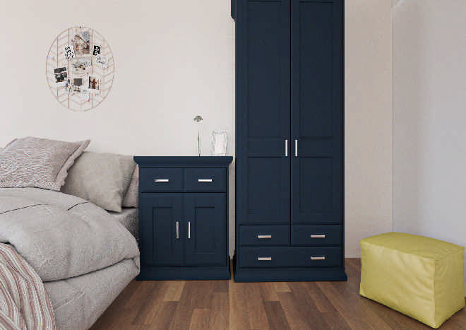 Mayfield TrueMatt Marine Blue Bedroom Doors