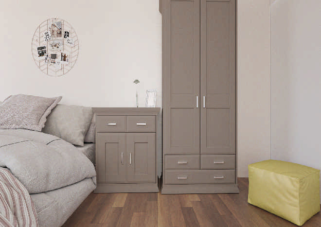 Mayfield TrueMatt Stone Grey Bedroom Doors