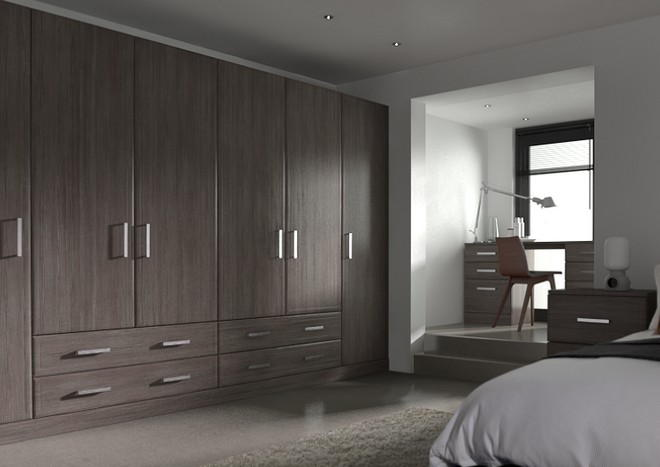 Newick Avola Grey Bedroom Doors