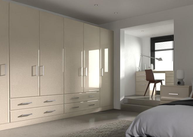 Newick High Gloss Cappuccino Bedroom Doors