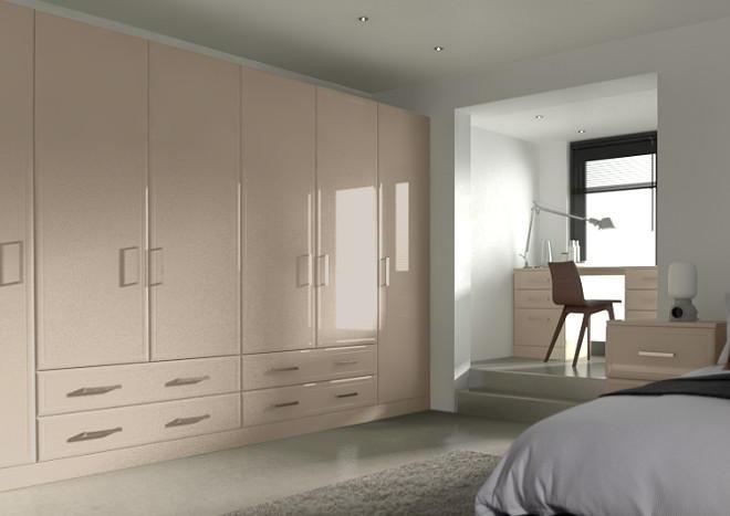 Newick High Gloss Cashmere Bedroom Doors Made To Measure