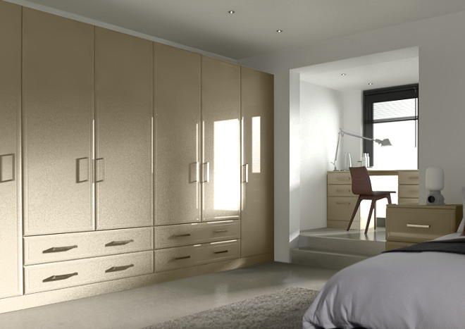 Newick High Gloss Dakar Bedroom Doors