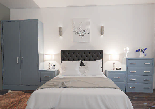Newick TrueMatt Denim Bedroom Doors
