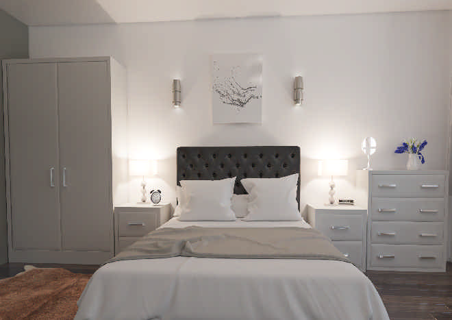 Newick TrueMatt Light Grey Bedroom Doors