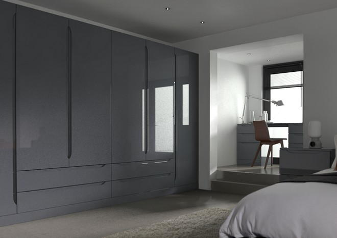 Petworth High Gloss Anthracite Bedroom Doors