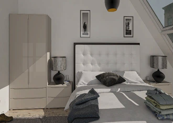 Petworth High Gloss Cashmere Bedroom Doors
