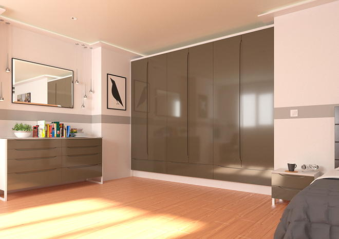 Petworth High Gloss Graphite Bedroom Doors