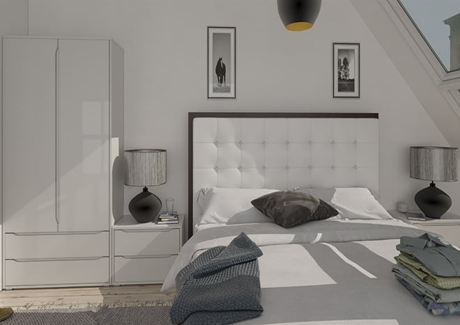 Petworth High Gloss Light Grey Bedroom Doors