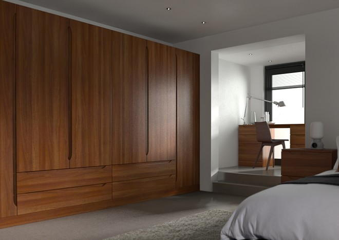Petworth Medium Walnut Bedroom Doors