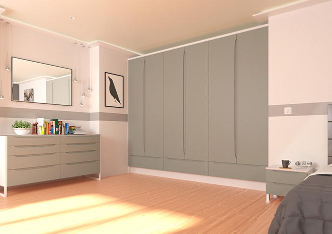 Petworth Pebble Grey Bedroom Doors