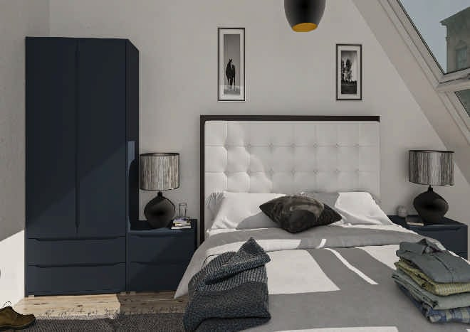 Petworth TrueMatt Marine Blue Bedroom Doors