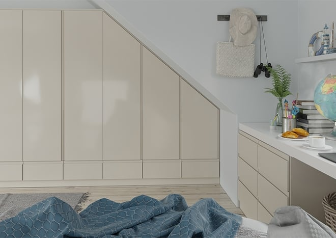 Ringmer High Gloss Cappuccino Bedroom Doors