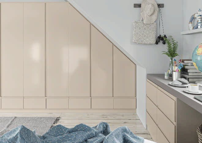 Ringmer High Gloss Cashmere Bedroom Doors