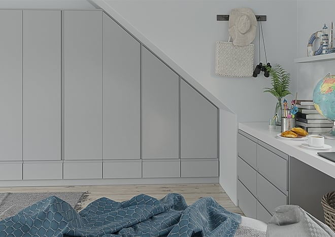 Ringmer Pebble Grey Bedroom Doors