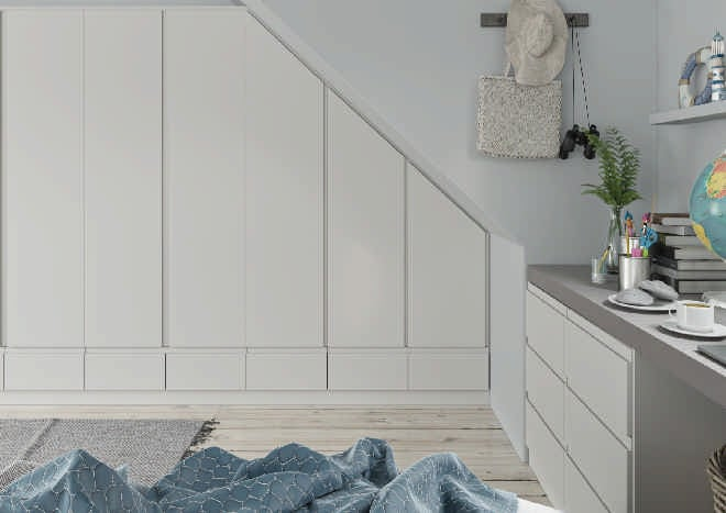 Ringmer TrueMatt Taupe Grey Bedroom Doors