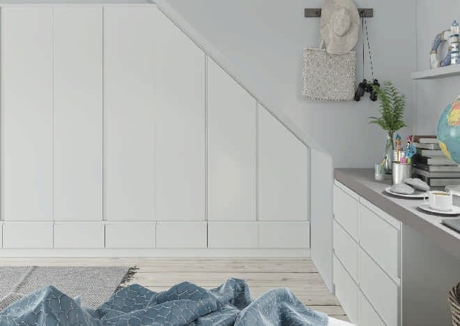 Ringmer TrueMatt White Grey Bedroom Doors