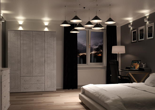 Storrington Brushed Steel Bedroom Doors