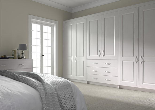 Ticehurst Super White Ash Bedroom Doors