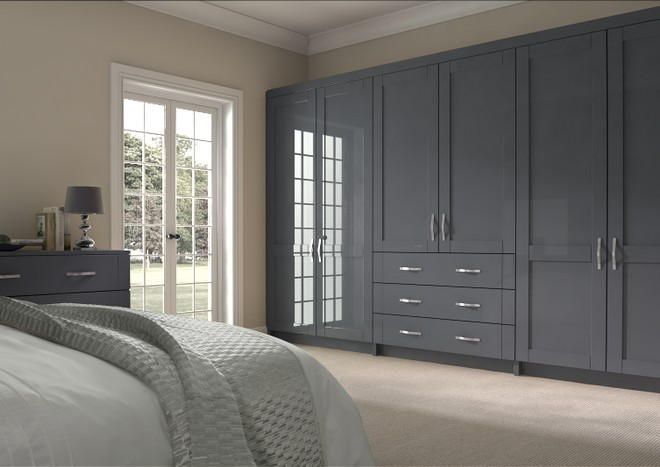 Washington High Gloss Anthracite Bedroom Doors