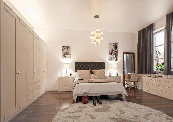 Washington Truematt Taupe Grey Bedroom Doors Made To Measure From Pound 3 51
