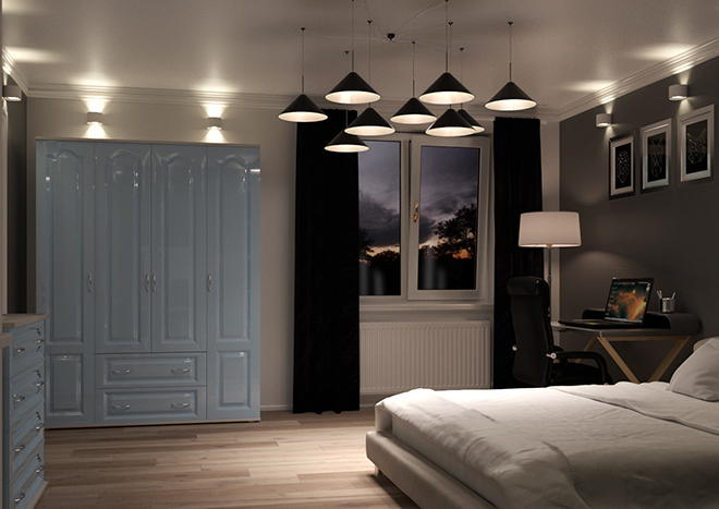 Westfield High Gloss Denim Blue Bedroom Doors