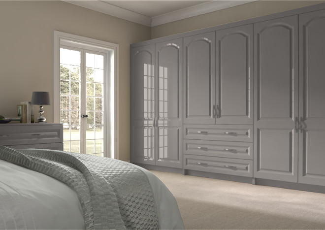 Westfield High Gloss Stone Grey Bedroom Doors