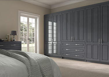 Amberley High Gloss Anthracite Bedroom Doors