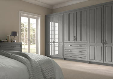 Amberley High Gloss Light Grey Bedroom Doors
