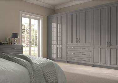 Amberley High Gloss Stone Grey Bedroom Doors